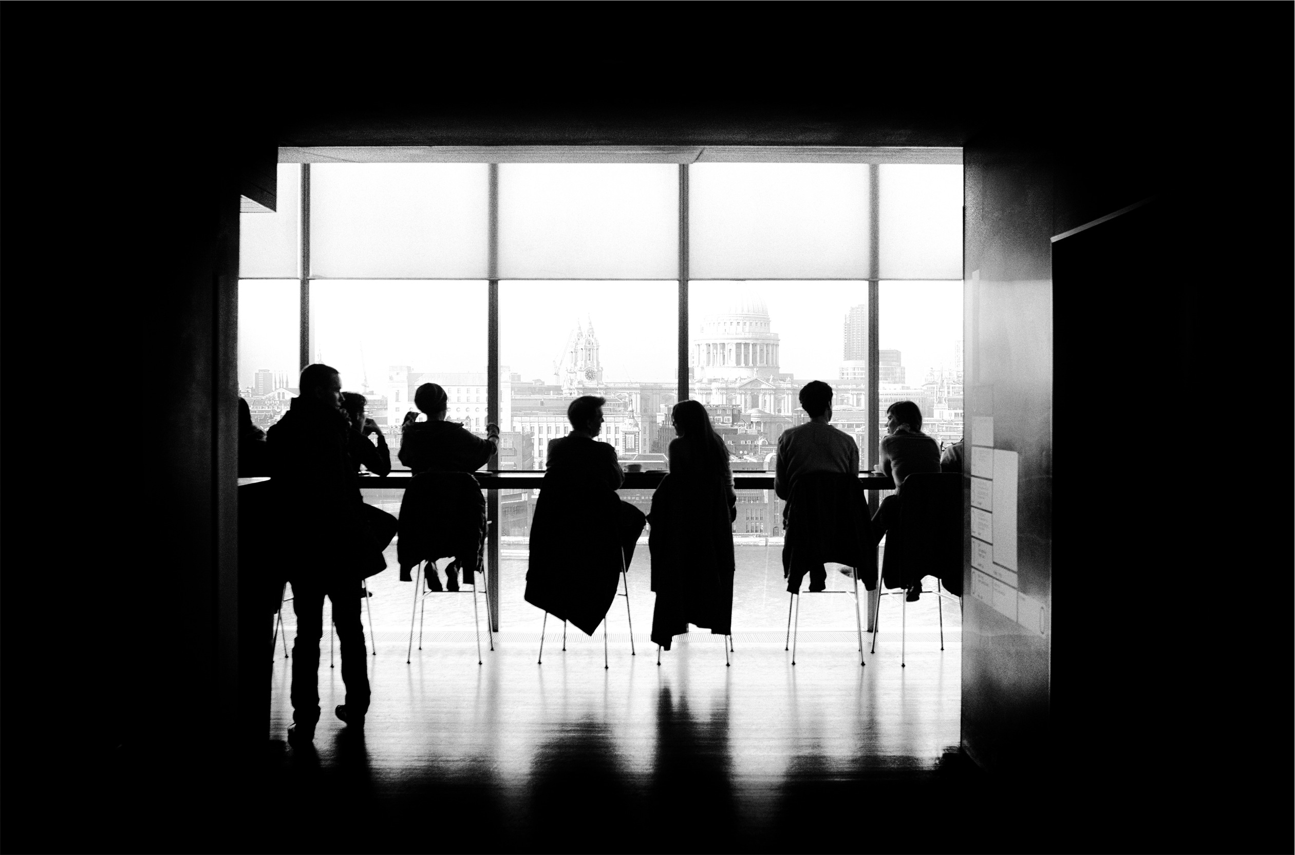 People Meeting B/W